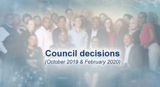 SAPC - Council decisions